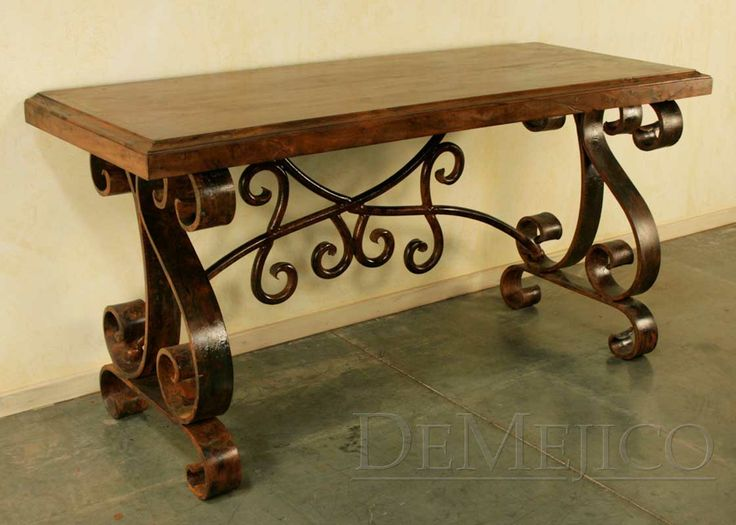 49 Best Rustic Wood Iron Furniture Images On Pinterest