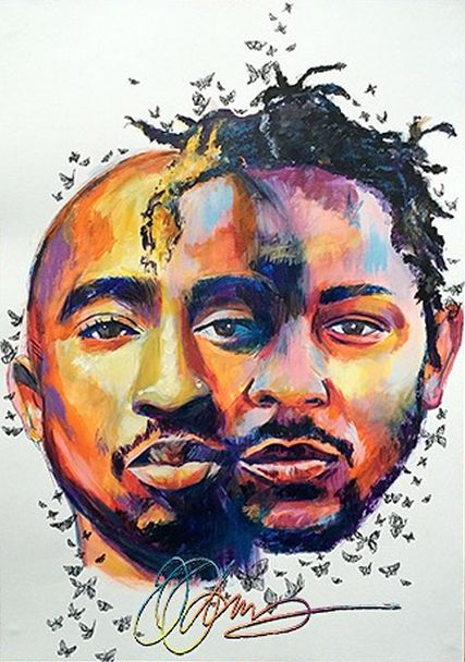 2Pac and Kendrick Lamar in one by Olivia Odiwe