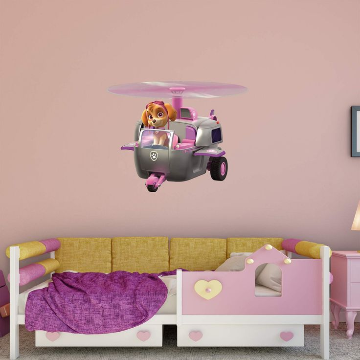 Fathead PAW Patrol Skyes Helicopter Wall Decal - 18-00078