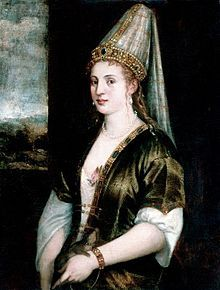 "Hürrem Sultan c. 1502 – 15 April 1558; also known as La Rossa or Roxelana; was the favorite consort and later the legal wife of Ottoman Sultan Suleiman the Magnificent and the mother of Şehzade Mehmed, Mihrimah Sultan, Şehzade Abdullah, Sultan Selim II, Şehzade Bayezid and Şehzade Cihangir. She was one of the most powerful and influential women in Ottoman history and a prominent figure during the era known as the Sultanate of Women. She was ""Haseki Sultan"" (chief wife of the Sultan) when her…"