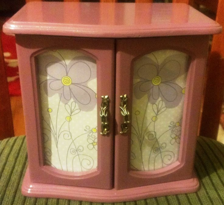 Pretty Purple Upcycled Jewelry Box