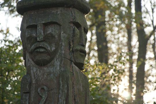 Statue of Svetovid, near the town of Choroszcz   Poland