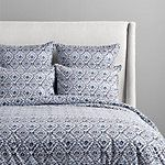 Add coral colored accents? Morocco Printed King Duvet