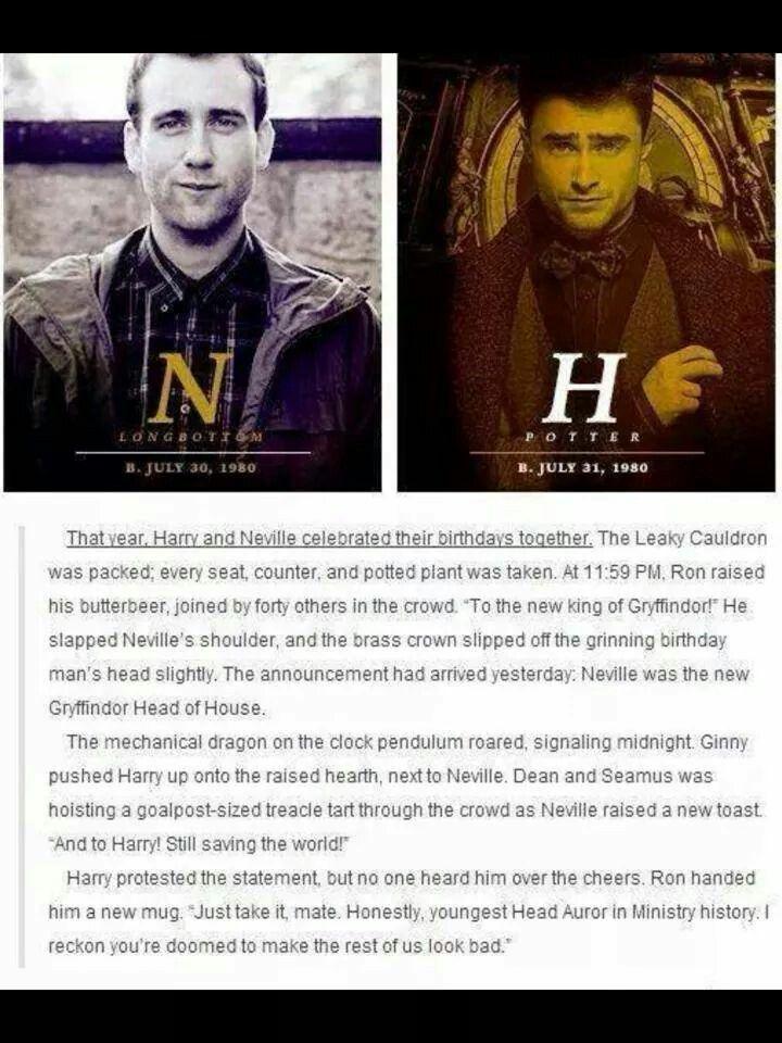 Harry Potter and Neville Longbottum