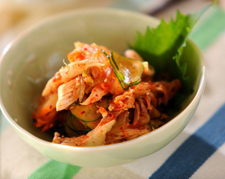 ささ身のキムチ和えのレシピ・作り方 - 簡単プロの料理レシピ | E・レシピ