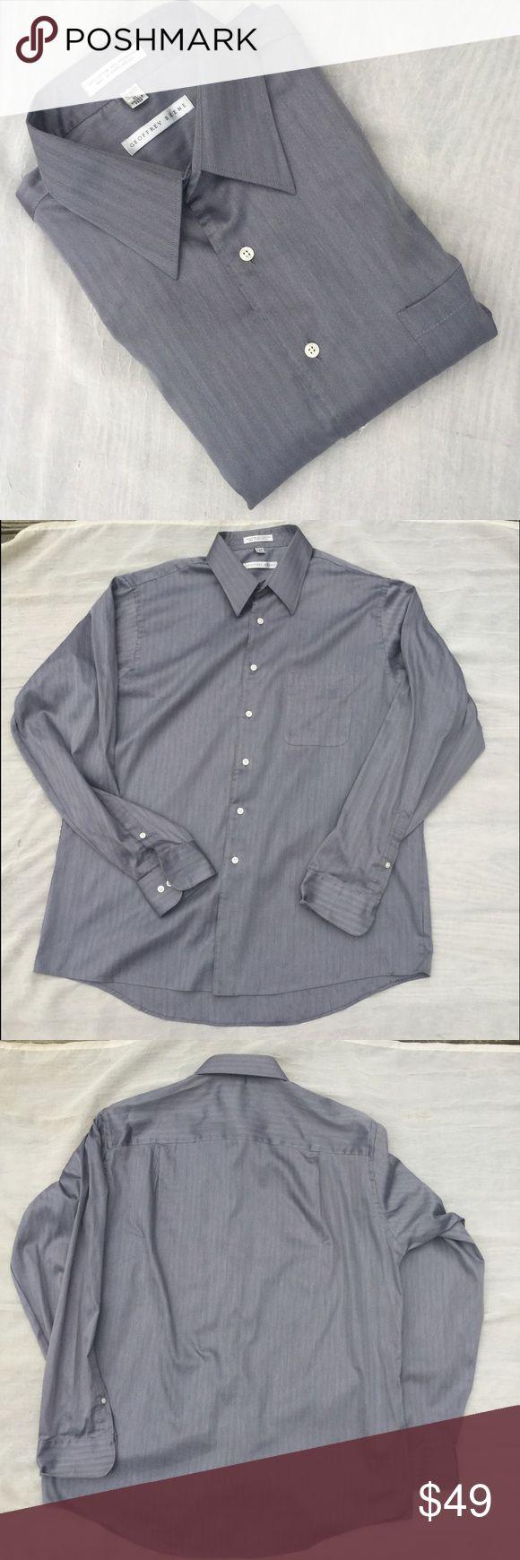 "Geoffrey Beene Shirt Wrinkle free • Size XL 17"" 36/37 • Excellent condition • 70% Cotton 30% Polyester Geoffrey Beene Shirts Dress Shirts"