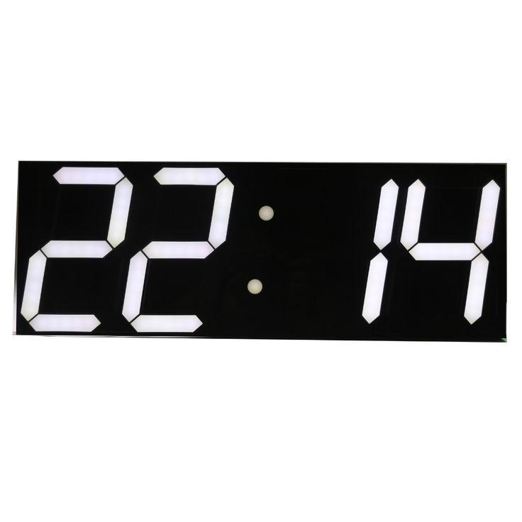 Free shipping Large Digital Wall Clock LED Display Remote Control Countdown Alarm Clock Stopwatch Modern Design Big