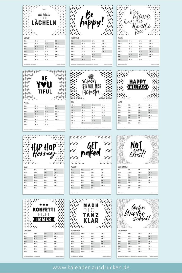 Kalender 2020 In 2020 Kalender Zum Ausdrucken Kalender Spruche Kalender