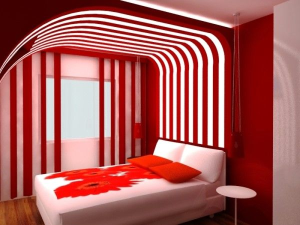 Red Modern Romantic Bedroom Design Ideas For Couples In Love