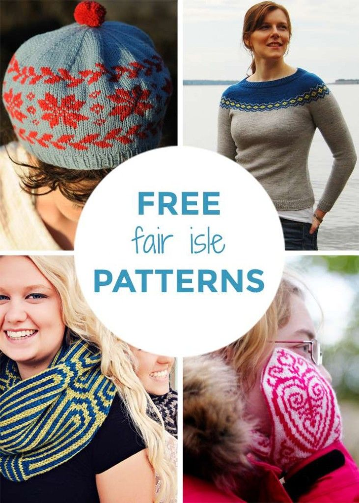 Simple Knitted Hat Pattern Free : 158 best Fair Isle images on Pinterest