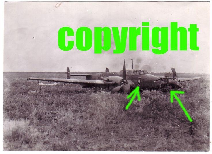 Orig.Foto Flugzeug Nachtjäger ME 110 Staffelwappen Radar FUG Antenne Notlandung in Sammeln & Seltenes, Militaria, 1918-1945 | eBay
