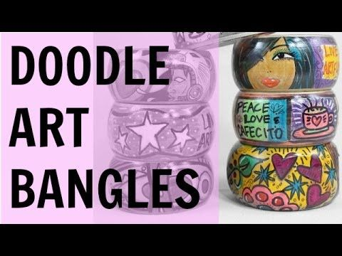 Tulip Fabric Markers on Wood - makes for cool bracelets! Here is my video tutorial!