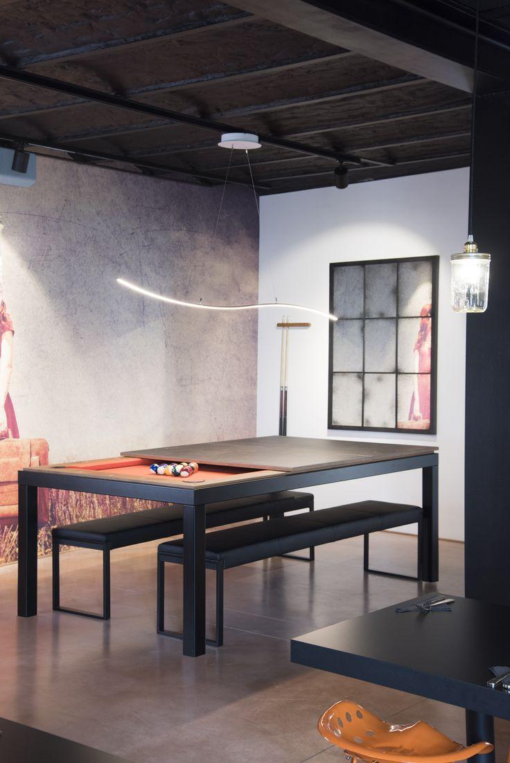 les 25 meilleures id es de la cat gorie billard convertible sur pinterest table billard. Black Bedroom Furniture Sets. Home Design Ideas