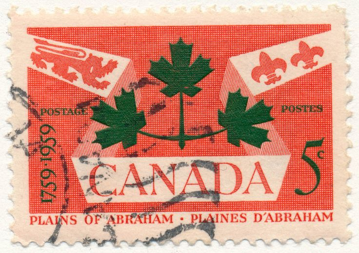 Battle of the Plains of Abraham. Honouring generals Montcalm and Wolfe, both fatally wounded in the battle for Québec in 1759. (issued 1959)