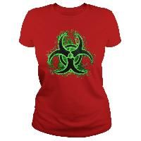 Biohazard, glowing sign, green, black, toxic fallout, waste symbol