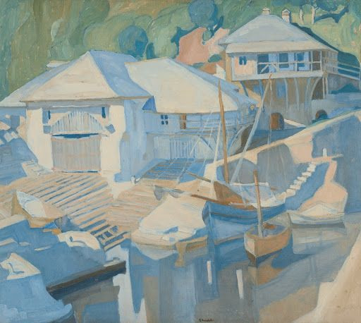 Boatyard at Megisti Lavra Monastery - Spyros Papaloukas — Google Arts & Culture