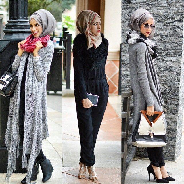 Stylish Hijabi Street styles http://www.justtrendygirls.com/stylish-hijabi-street-styles/