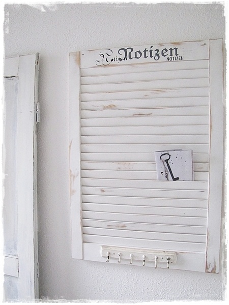 Lamellentür Selber Bauen : Aus einer alten Lamellentür habe ich ein Memoboard gebastelt. Weiß ...