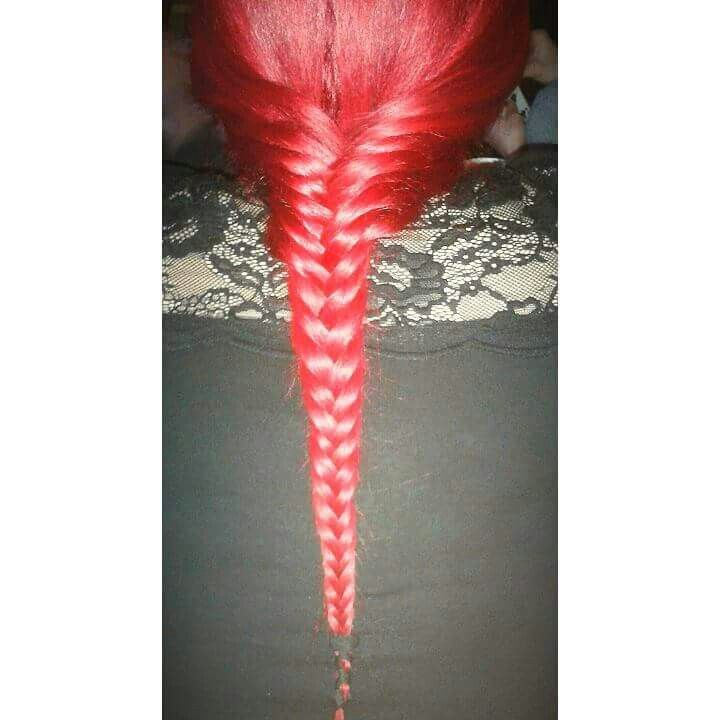 Red bright hair