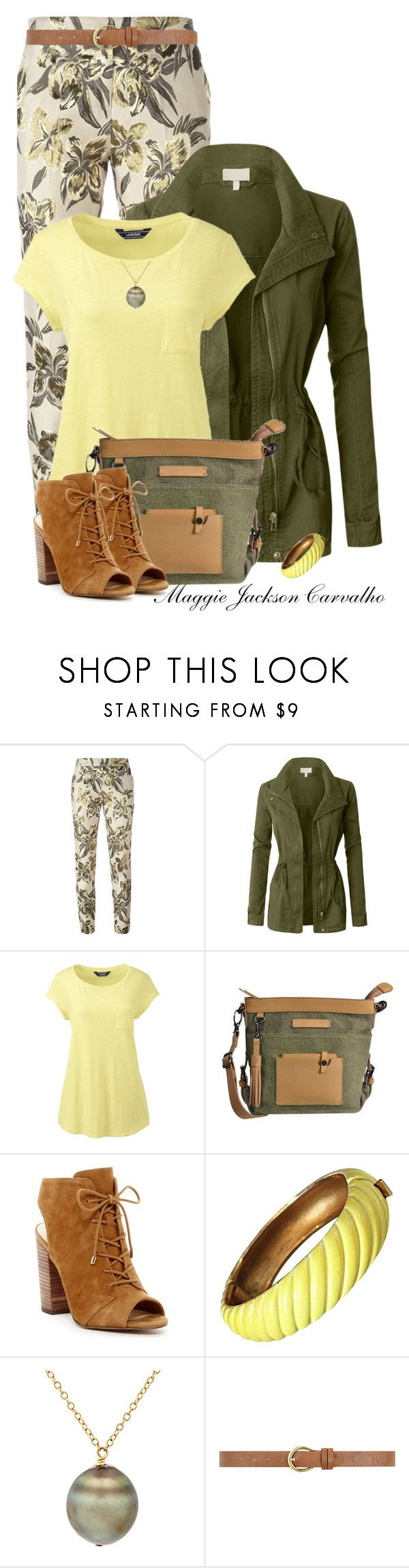 """""""Casual in Floral Print Leggings/Pants or Jeans"""" by maggie-jackson-carvalho on Polyvore featuring Christian Pellizzari, LE3NO, Lands' End, Sherpani, Jessica Simpson, Trifari, Samira 13 and Dorothy Perkins"""