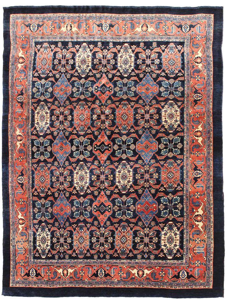 Geometric Oriental Rug Gallery: Persian Bijar Rug, Hand-knotted in Persia; size: 6 feet 4 inch(es) x 8 feet 4 inch(es)