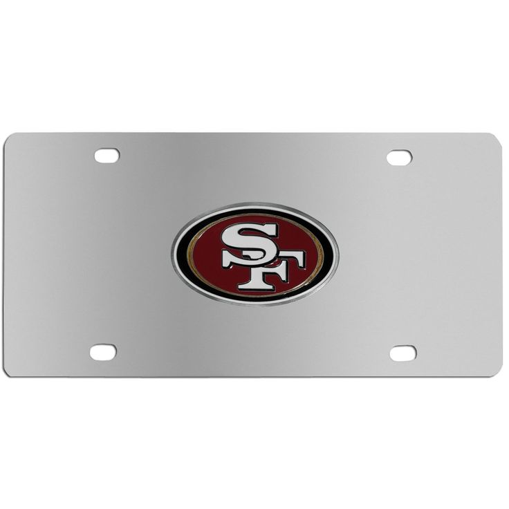 "Checkout our #LicensedGear products FREE SHIPPING + 10% OFF Coupon Code ""Official"" San Francisco 49ers Steel License Plate - Officially licensed NFL product Licensee: Siskiyou Buckle Stainless Steel License Plate Perfect for your vehicle or to hang on your wall Great way to show off your team pride Cast & enameled San Francisco 49ers emblem - Price: $35.00. Buy now at https://officiallylicensedgear.com/san-francisco-49ers-steel-license-plate-fplt075"