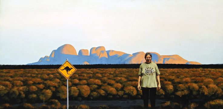 Aunty Muriel in Country, 2010, Copyright Rex Turnbull, Acrylic on Canvas, 51 x 101cm