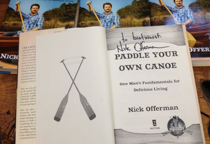 Who WOULDN'T want a book signed by THE Nick Offerman??