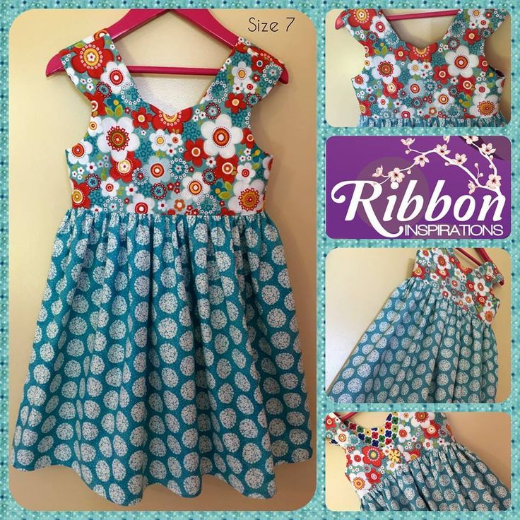 Handmade by Kate from Ribbon Inspirations. Size 7 tea party dress (pattern by Tadah). For more information, please visit https://www.facebook.com/HandmadeMarkets