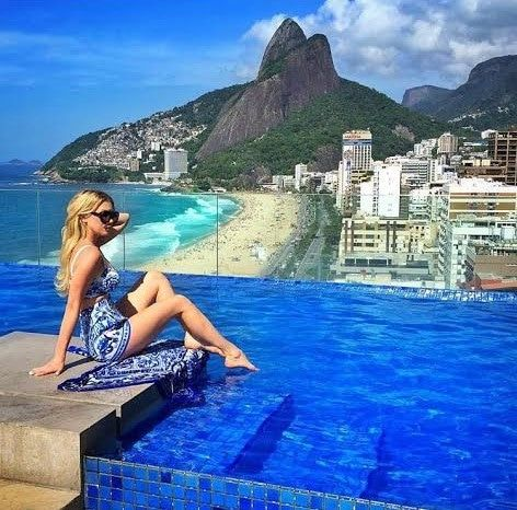 Who could say no to the beautiful blue water and stunning view of Rio from the Praia Ipanema Hotel? Check out our Rio Photoguide to see the exact coordinates of this shot, and many more! http://sidewalkerdaily.com/photoguide-rio-de-janeiro/ #instatour