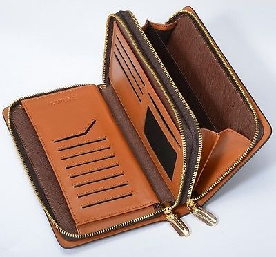 Mens Clutch Bags Handbag Checkbook Organizer Wallet Card Cash Holder Briefcases