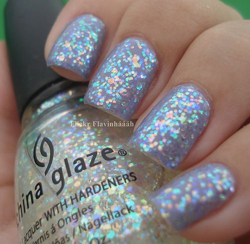 Shimmer And Sparkle Nail Polish: Iridescent Glitter Nails