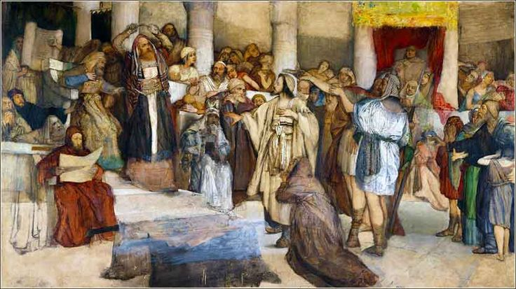 http://www.forvo.com/user/gorniak/ Maurycy Gottlieb-Jews Praying in the Synagogue on Yom Kippur