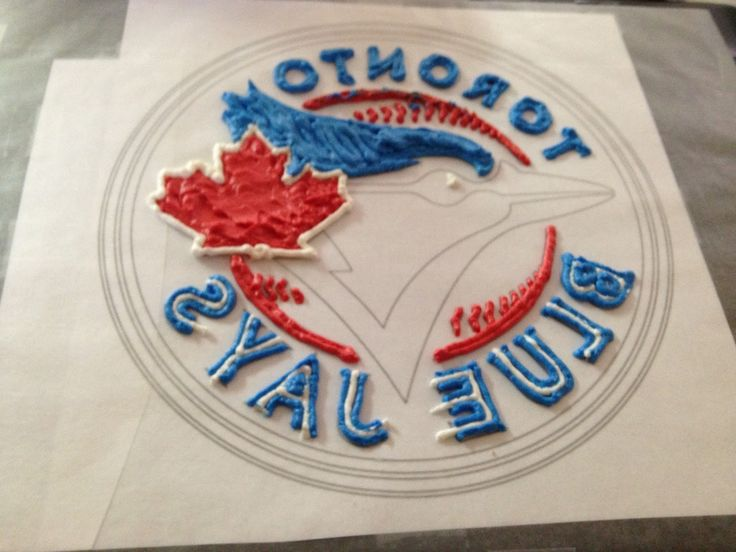 toronto blue jays birthday cakes | So, I attempted my first frozen buttercream transfer. After watching a ...