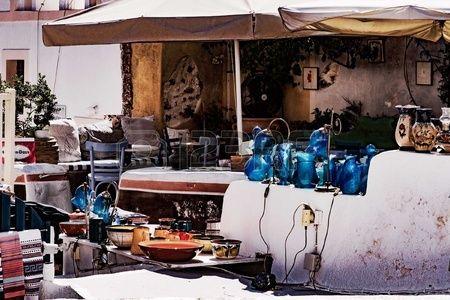 Souvenirs shop in Oia Town in Santorini