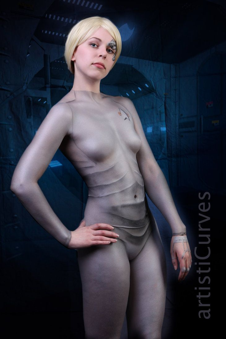 naked cosplay body paint
