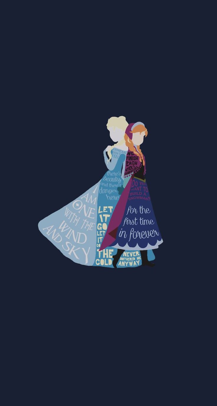 frozen Disney iphone 5 wallpaper cuz I'm disney