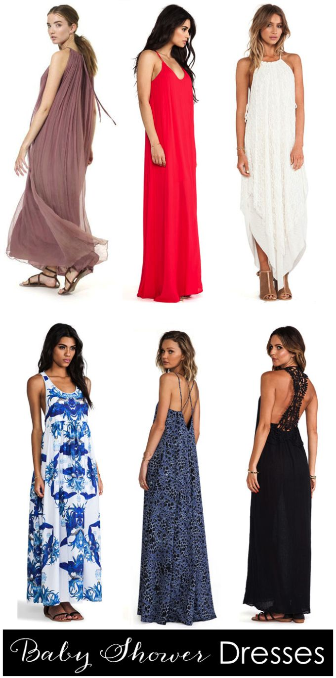 {Maternity} Wear: Baby Shower Dresses