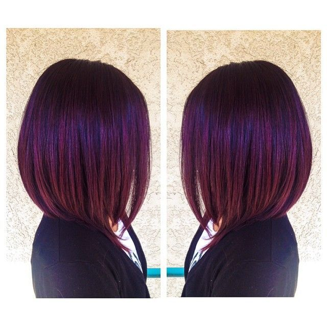 1000 Ideas About Purple Bob On Pinterest Bobs Hair And