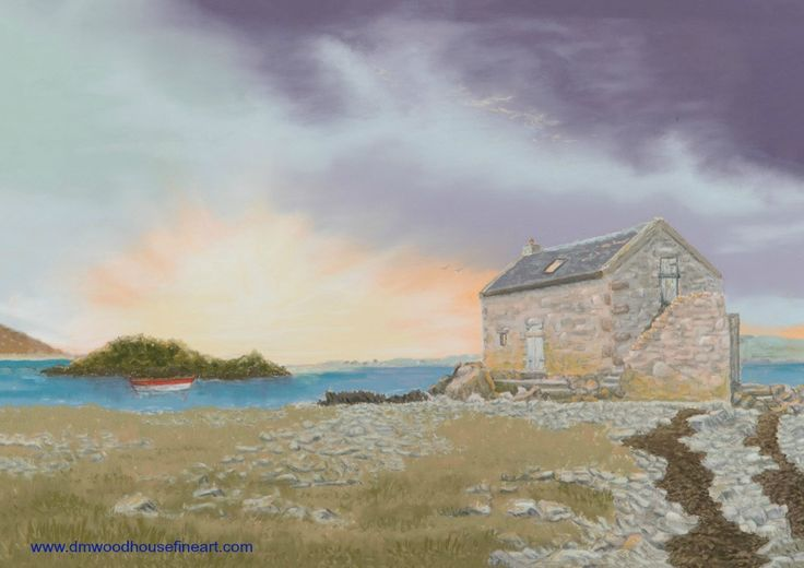"""As Evening Darkens, Nesbister, Shetland"".  Medium: Unison Soft Pastels, Materials: Fisher 400 Art Pastel Paper 360 gsm Dimension: External Mounted 18 x 24 inches To buy as Original Painting, Giclee Print or Greeting Card please visit my website at www.dmwoodhousefineart.com"