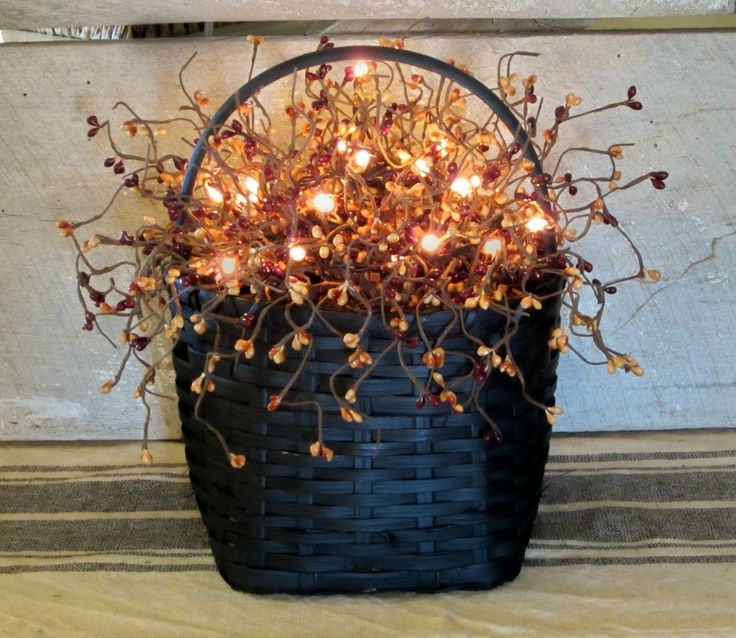 Primitive Lighted Berry Basket
