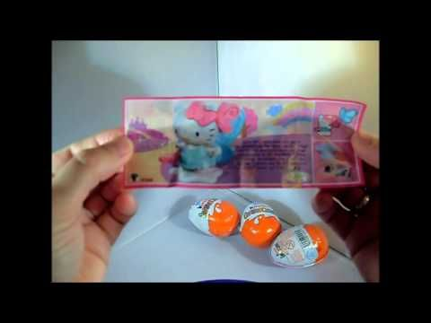 Surprise Eggs Unboxing Kinder Hello Kitty Auspacken Überraschungsei ü ei