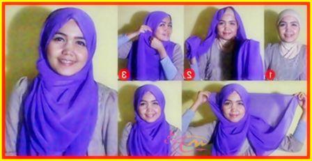 Tutorial Hijab Segi Empat Tanpa Ciput Yang Simple   arenawanita.com