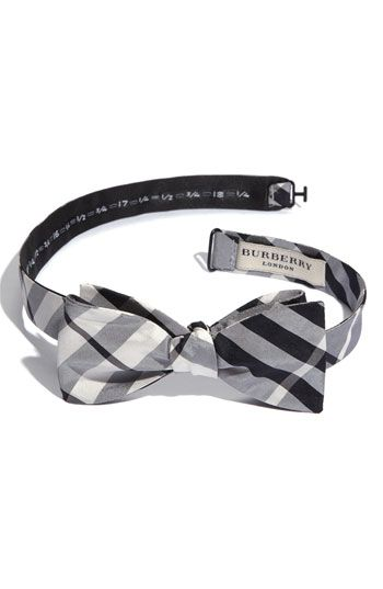 I love that I know how to tie a true bow tie...do NOT get me wrong but I struggle not to love anything Burberry