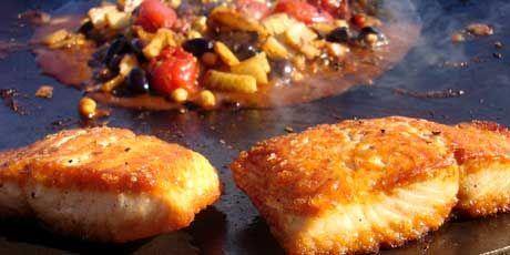 Muurikka Salmon with Mediterranean Vegetables