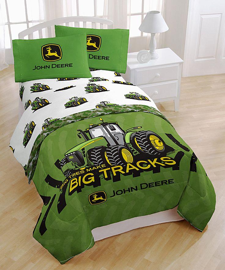 This John Deere 'Big Tracks' Sheet Set by John Deere is perfect! #zulilyfinds