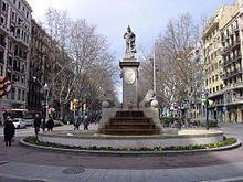 I pass by this statue of Hercules, the mythological founder of Barcelona, on the way to class everyday. It is the oldest original statue in the city. Hercules has a big part in the mythical origins of Spain itself, with the pillars representing a portal. This column is more of a honor towards him. He gave the monarchs the devine right.