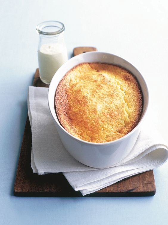 Donna Hay: lemon delicious pudding.  My all-time very favourite pudding!  Nom!