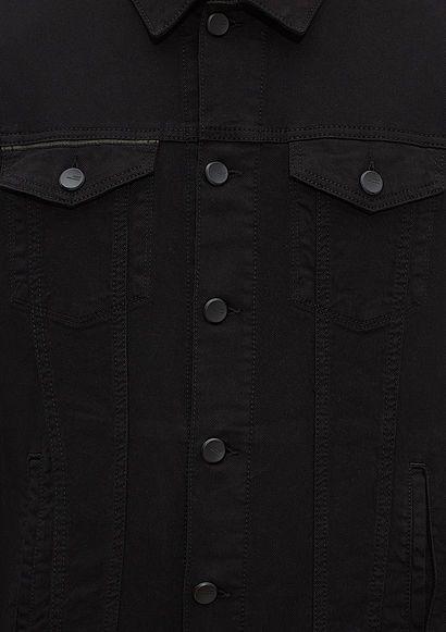 Frank Mavi Amerika Siyah Jean Ceket   Erkek   Mavi