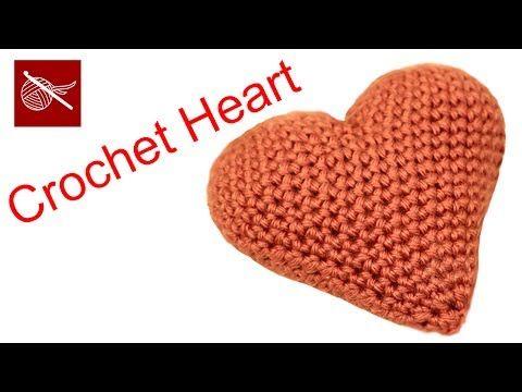 Paso a paso como hacer corazon de crochet 3D